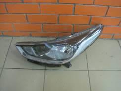 Стекло фары. Kia Rio Hyundai Solaris, HCR Двигатели: G4FC, G4LC