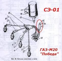Сопротивления подавательные СЭ-01. ГАЗ 12 ЗИМ ГАЗ 69 ГАЗ Победа