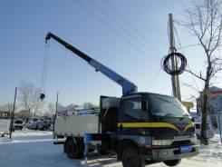 Mitsubishi Canter. Продается бортовой грузовик с манипулятором , 4 500 куб. см., 3 500 кг.