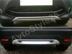Накладка на бампер. Nissan Qashqai, J11