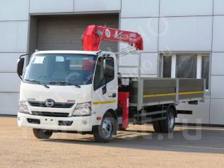 Hino 300. Бортовой грузовик с КМУ, 4 009 куб. см., 5 000 кг.