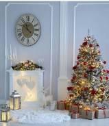 Новогоднее оформление помещений, изготовление декоративных каминов