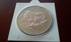 Виргинские Острова. Огромный 1 $ 2002 г. Сэр Уолтер Рейли. Флот! UNC.