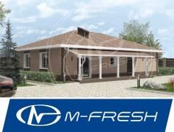 M-fresh Big Martin Plus! (Терраса накрытая, несущие стены). 100-200 кв. м., 1 этаж, 4 комнаты, бетон