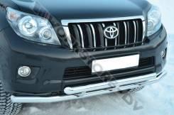 Защита бампера. Toyota Land Cruiser Prado, GRJ150, TRJ150, TRJ12, GRJ151W, TRJ150W, GDJ150L, GRJ150W, GDJ151W, GDJ150W, GRJ150L, KDJ150L Двигатели: 1K...