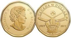 Канада 1 доллар 2017 г. 100 лет ХК Торонто Мейпл Лифс