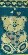 """Полотенце махровое детское """"Влюбленный медведик"""" 30*60"""