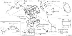 Направляющая масляного щупа. Nissan Cube, BNZ11, BZ11 Nissan March, AK12, BK12, BNK12, K12 Nissan AD, VAY12 Nissan Cube Cubic, BGZ11 Двигатели: CR14DE...