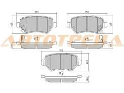 Колодки тормозные RR OPEL ASTRA G 98-05, H 05-, CORSA C 03-06, ZAFIRA A/B 99-