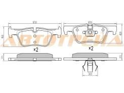 Колодки тормозные RR BMW 1 F20/21/22, 3 F30/F31/F34/F80, X3 F25, правый задний