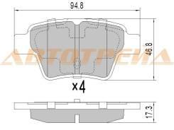 Колодки тормозные RR CIT/PEUG/C4 06/307/408/GEELY EMGRAND