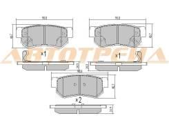 Колодки тормозные RR HYUNDAI GETZ 05-09/SANTA FE 01-06/SONATA 04-09