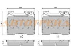 Колодки тормозные FR MERCEDES W140