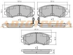 Колодки тормозные FR MITSUBISHI CHARIOT/RVR/SPACE WAGON