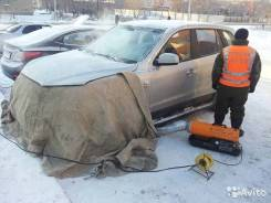 Отогрев замерзших авто в Биробиджане