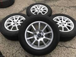 185/65R14 Bridgestone на литье. Из Японии (1486). 6.0x14 4x98.00 ET35 ЦО 57,3мм.