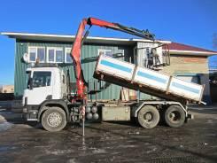 Scania R143. Кму самосвал Scania P420 / Fassi 150 4т/12м, 2 000куб. см., 26 000кг., 6x2