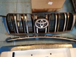 Молдинг решетки радиатора. Toyota Land Cruiser Prado, GDJ150W, TRJ150, GRJ150L, GRJ150, TRJ150W, GRJ150W, GDJ150L, KDJ150L, TRJ12, GDJ151W, GRJ151W Дв...