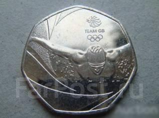 50 пенсов 2016, Великобритания, Олимпиада. Плавание