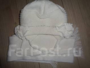 Шапка и шарф. Рост: 116-122, 122-128, 128-134 см