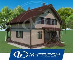 M-fresh Bravo! (Посмотрите этот проект компактного дома с мансардой! ). 100-200 кв. м., 2 этажа, 5 комнат, бетон