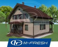 M-fresh Bravo! -зеркальный (Готовый проект дома с мансардой! ). 100-200 кв. м., 2 этажа, 5 комнат, бетон
