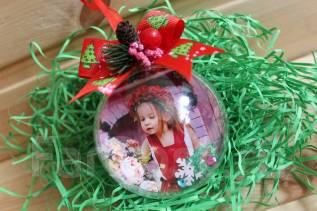 Фотошар-шар с вашим фото, логотипом в подарочной коробочке. Под заказ