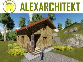 Баня Z AlexArchitekt Двухэтажный дом с баней. до 100 кв. м., 2 этажа, 2 комнаты, кирпич