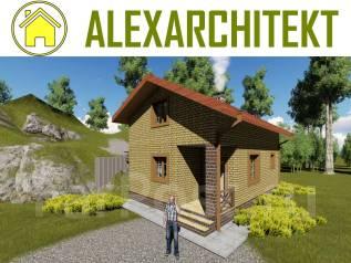 Баня Zz AlexArchitekt Двухэтажный дом с баней. до 100 кв. м., 2 этажа, 2 комнаты, кирпич