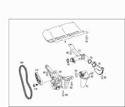 Цепь привода насоса масляного. Mercedes-Benz GL-Class, X164 Mercedes-Benz M-Class, W164. Под заказ