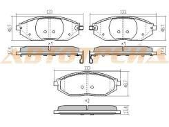 Колодки тормозные fr chevrolet spark 10-, передний