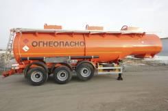 Сеспель SF3330. Полуприцеп цистерна бензовоз ленивец SF3330 30м3 3 отсека с насосом, 26 000 кг.