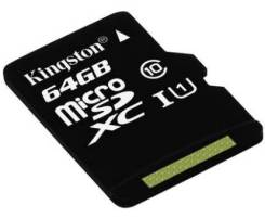 MicroSD. 64 Гб, интерфейс Класс 10. Под заказ