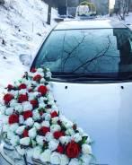 Свадебное украшение на авто. Ручная работа