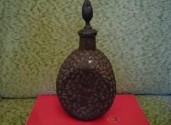 Старинная бутылка в медной оплётке. Оригинал