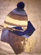 Шапка и шарф. Рост: 92-98, 98-104 см
