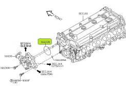 Сальник тнвд. Nissan: Skyline, Cedric, Bluebird Sylphy, Cima, Stagea, Gloria, Primera Двигатели: VQ25DD, VQ30DD, QR20DD, VK45DD, QR25DD