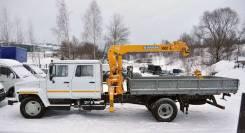 ГАЗ 3309. Кран-манипулятор (4х2), 4 750 куб. см., 5 000 кг.