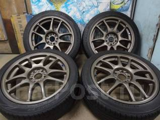 Продам Крутые Фирменные колёса Work Emotion CR-KAI+Лето 215/45R17. 7.0x17 5x100.00 ET47