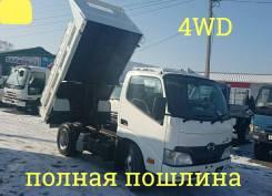 Hino Dutro. 4WD, самосвал 3,5 тонны, 4 000 куб. см., 3 500 кг.