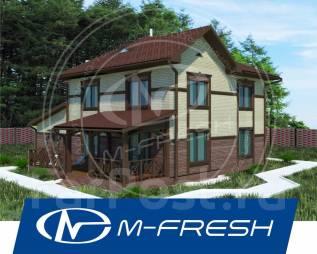 M-fresh Cappuccino Mini /Доработанный проект дома с гаражом и террасой. 200-300 кв. м., 2 этажа, 5 комнат, бетон
