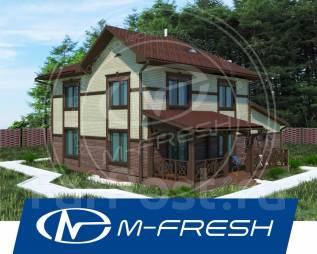 M-fresh Cappuccino Mini-зеркальный (Встроенный гараж, большая терраса). 200-300 кв. м., 2 этажа, 5 комнат, бетон