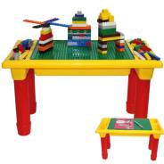Игровой стол для конструктора + 250 деталей (подходит для LEGO)