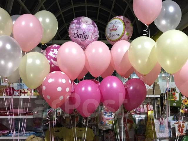 Оформим воздушными шарами выписку из роддома! Прокат аиста!