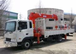Hyundai HD120. Кран-манипулятор Hyundai HD 120 с КМУ Kanglim 1056 (5 тонн), 6 606 куб. см., 7 000 кг.