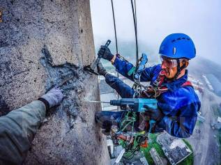 Промышленный альпинизм, высотные работы, альпинисты