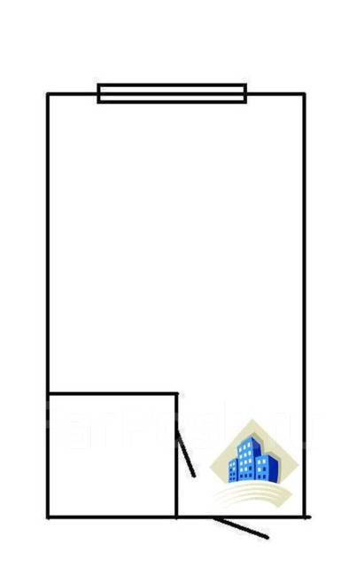 Гостинка, улица Некрасовская 52. Некрасовская, 18 кв.м. План квартиры