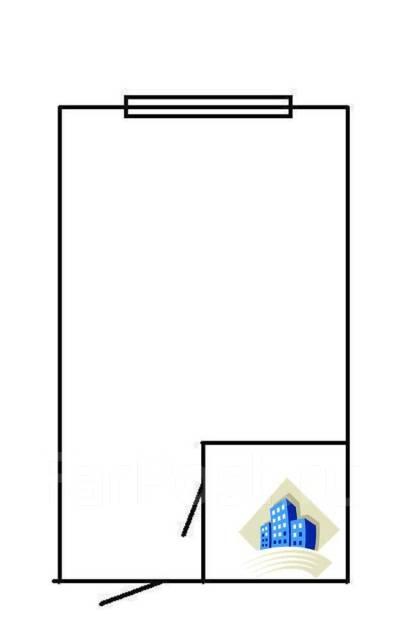 Гостинка, улица Некрасовская 50. Некрасовская, 18кв.м. План квартиры
