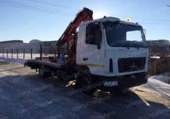 МАЗ 4371. Автоэвакуатор с КМУ и ломаной платформой, 4 750 куб. см., 4 000 кг.