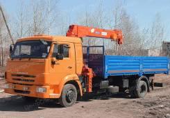 Камаз 4308. Кран-манипулятор с КМУ и бортовой платформой, 4 500 куб. см., 4 000 кг.